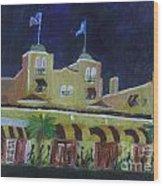Colony Hotel At Night. Delray Beach Wood Print