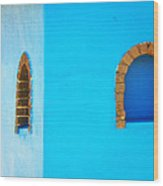 Color About Town - Blue Wood Print