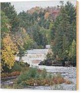 Color At The Falls Wood Print