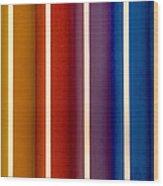 Color Bands Wood Print