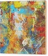 Color Burst #1 Wood Print