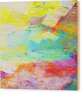 Color Burst Abstract Art  Wood Print