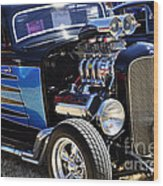 Color Chrome 1932 Black Ford Coupe Wood Print