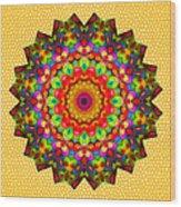 Color Circles Kaleidoscope Wood Print