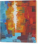 Color Deluge Wood Print