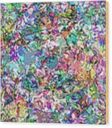 Color Filled Abstract Wood Print