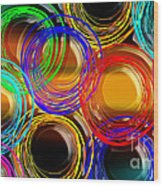 Color Frenzy 1 Wood Print by Andee Design