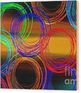 Color Frenzy 3 Wood Print