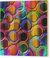 Color Frenzy 5 Wood Print