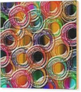 Color Frenzy 6 Wood Print