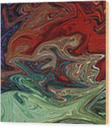 Color Fusion To The Ablution Of Delusions  Wood Print
