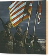 Color Guard Of African American Wood Print