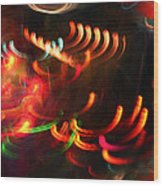Color Light Motion Wood Print