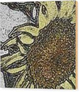 Color Me Sunflower Wood Print