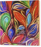 Color Meets Gold Wood Print