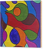 Color My World Bright Wood Print