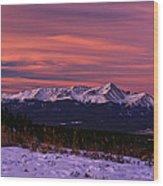 Color Of Dawn Wood Print
