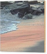 Color Of Sand Cape May Nj Wood Print