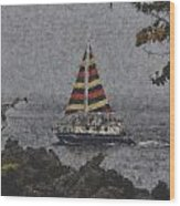 Color Of The Sails Wood Print