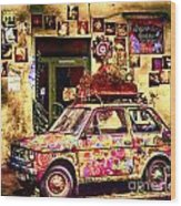 Color On The Road In Krakow- Poland Wood Print