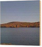 Color On The Lake Wood Print