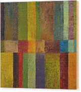 Color Panel Abstract Ll Wood Print by Michelle Calkins