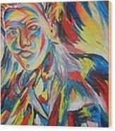 Color Portrait Wood Print by Juan Molina