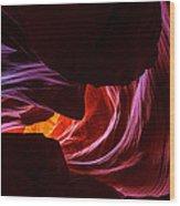 Color Ribbons Wood Print
