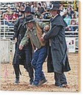 Color Rodeo Shootout Deputies Arrest Outlaw Wood Print