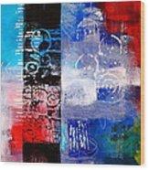 Color Scrap Wood Print by Nancy Merkle