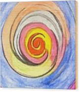 Color Spiral 5-25-2014 Wood Print