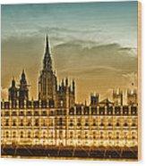 Color Study London Houses Of Parliament Wood Print by Melanie Viola