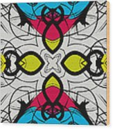 Color Symmetry 3 Wood Print