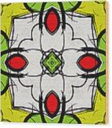 Color Symmetry  Wood Print