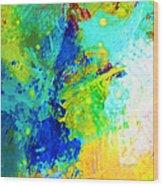 Color Wash Abstract Wood Print