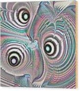 Color Waves Wood Print