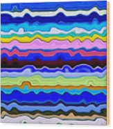 Color Waves No. 4 Wood Print