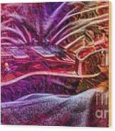 Color Wheel Digital Guitar Art By Steven Langston Wood Print