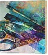 Color Your World Wood Print by Ann Powell