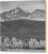 Colorado America's Playground In Black And White Wood Print
