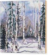 Colorado Aspens 2  Wood Print