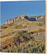 Colorado, Autumn, Just East Of Ridgway Wood Print