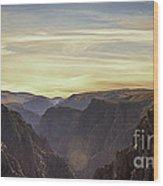 Colorado Canyon Morning Wood Print