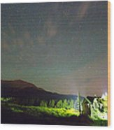 Colorado Chapel On The Rock Dreamy Night Sky Wood Print