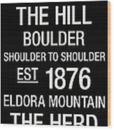 Colorado College Town Wall Art Wood Print