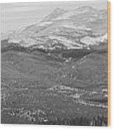 Colorado Continental Divide Panorama Hdr Bw Wood Print