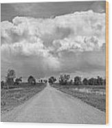 Colorado Country Road Stormin Bw Skies Wood Print by James BO  Insogna