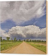 Colorado Country Road Stormin Skies Wood Print