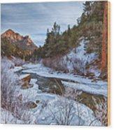 Colorado Creek Wood Print by Darren  White