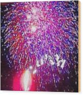 Colorado Fireworks  Wood Print